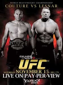 Турнир UFC 91 : Couture vs Lesnar